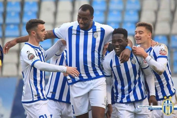 Winful Cobbinah nets 7th league goal as Tirana run riot at Luftetari