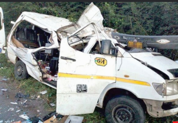 SAD NEWS: Eight Juvenile Ghanaian footballers die in gory Car Accident