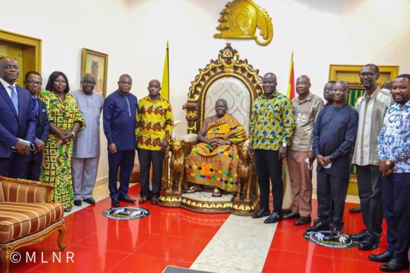 Government Seeks Asantehene's Support In Illegal Mining Fight